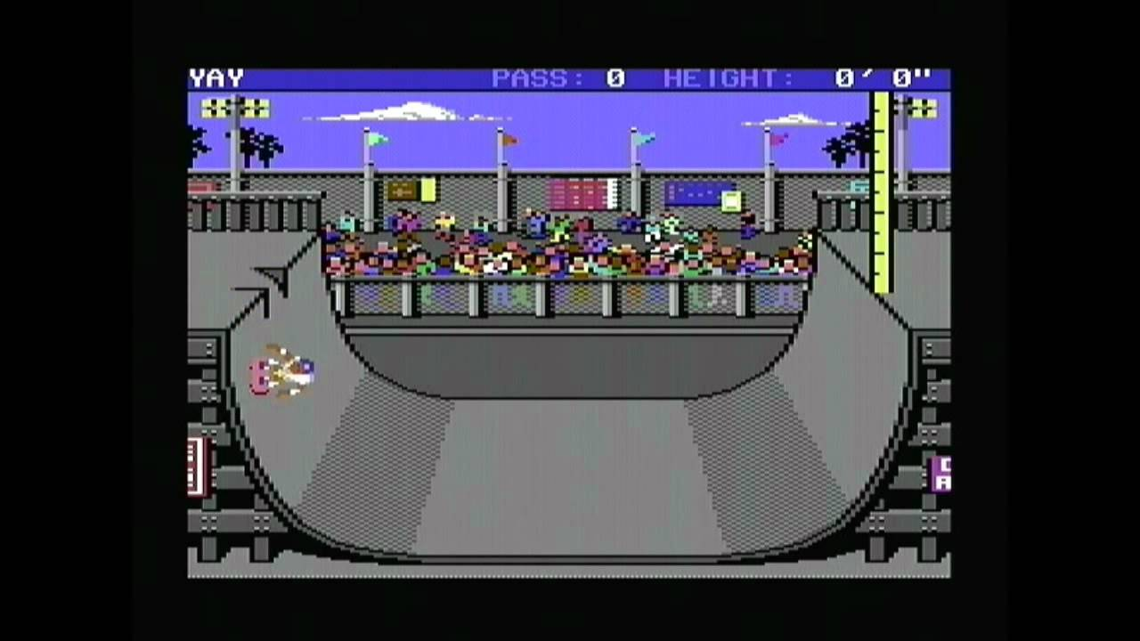 Le Retrrogaming avec Skate or Die! sur Commodore 64