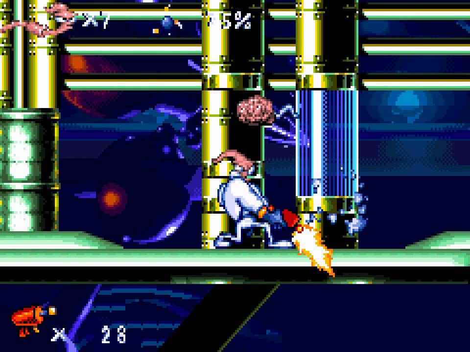 Le Retrrogaming avec Earthworm Jim sur Nintendo Gameboy Advance