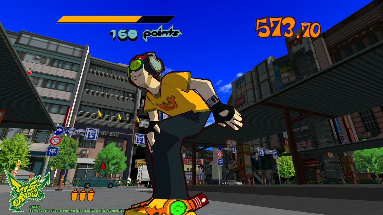 Le Retrrogaming avec Jet Set Radio sur Sega Dreamcast