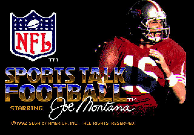 Le Retrrogaming avec Le Retrrogaming avec Joe Montana Sports Talk Football sur Sega Megadrive